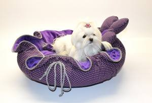 FLOWER Hundebett Limited Edition PURPLE