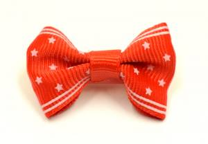 Mini Spange LITTLE DOG STAR RED