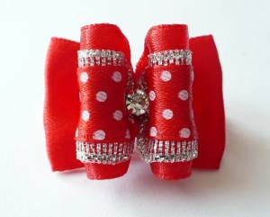 Schleife Exclusive BIG RED DOTS STRASS