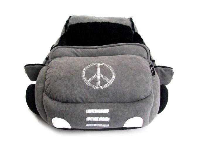 auto bett cabrio f r hunde grey black line. Black Bedroom Furniture Sets. Home Design Ideas