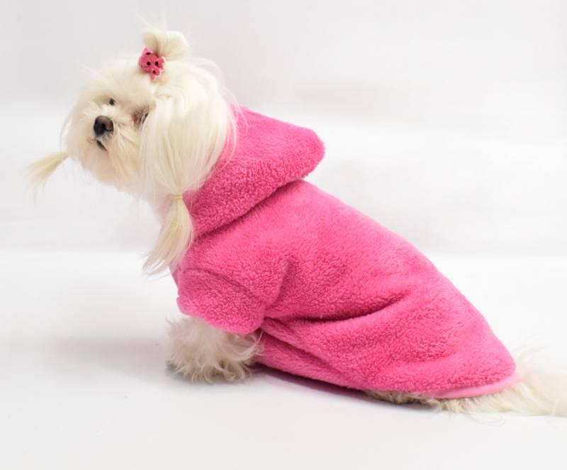 93bb9a5536da77 Doppelseitiger Bademantel für Hunde AMELIE